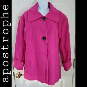 Apostrophe Fuchsia Jacket 3/4 Sleeves